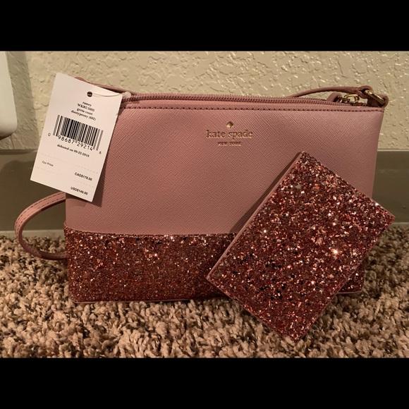 48bf1412b kate spade Bags | Pink Glitter Crossbody And Wallet Bnwt | Poshmark